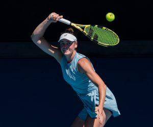 Jennifer Brady in the quarter-final of the 2021 Australian Open, Melbourne