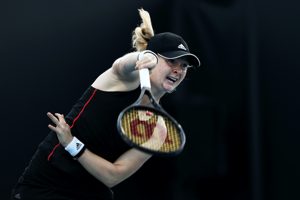 Francesca Jones in the first round of the 2021 Australian Open, Melbourne