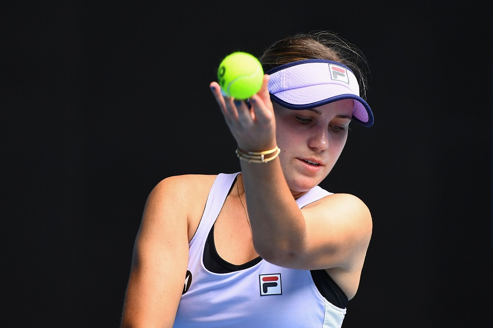 Sofia Kenin in the second round of the 2021 Australian Open