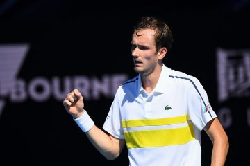 Daniil Medvedev in the quarter-final of the 2021 Australian Open, Melbourne