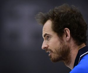 Andy Murray at the ATP Challenger Biella 1, Italy
