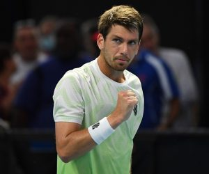 Cameron Norrie in the first round of the 2021 Australian Open