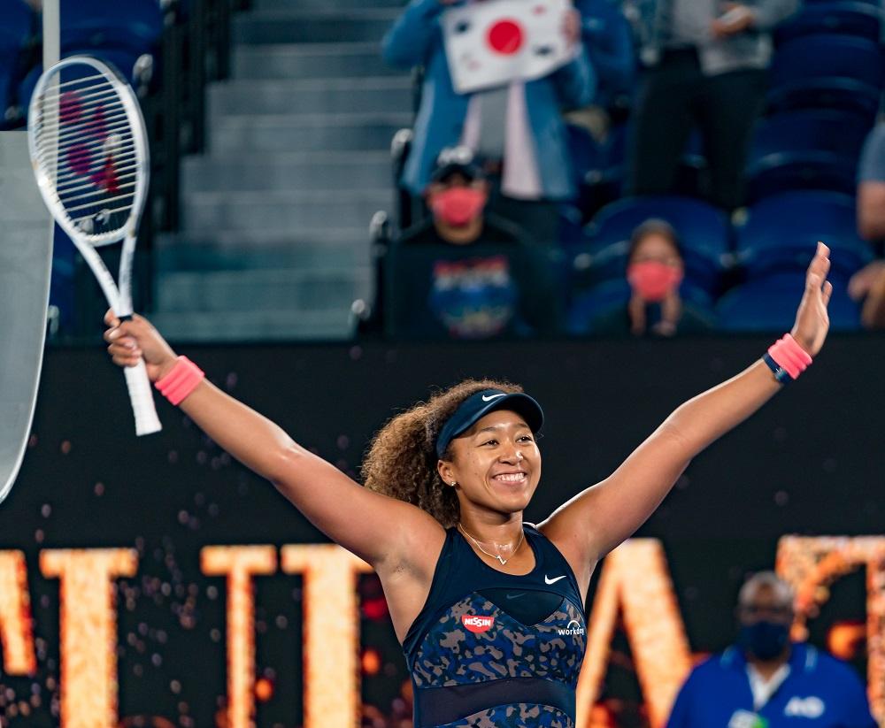 Naomi Osaka after winning the 2021 Australian Open, Melbourne