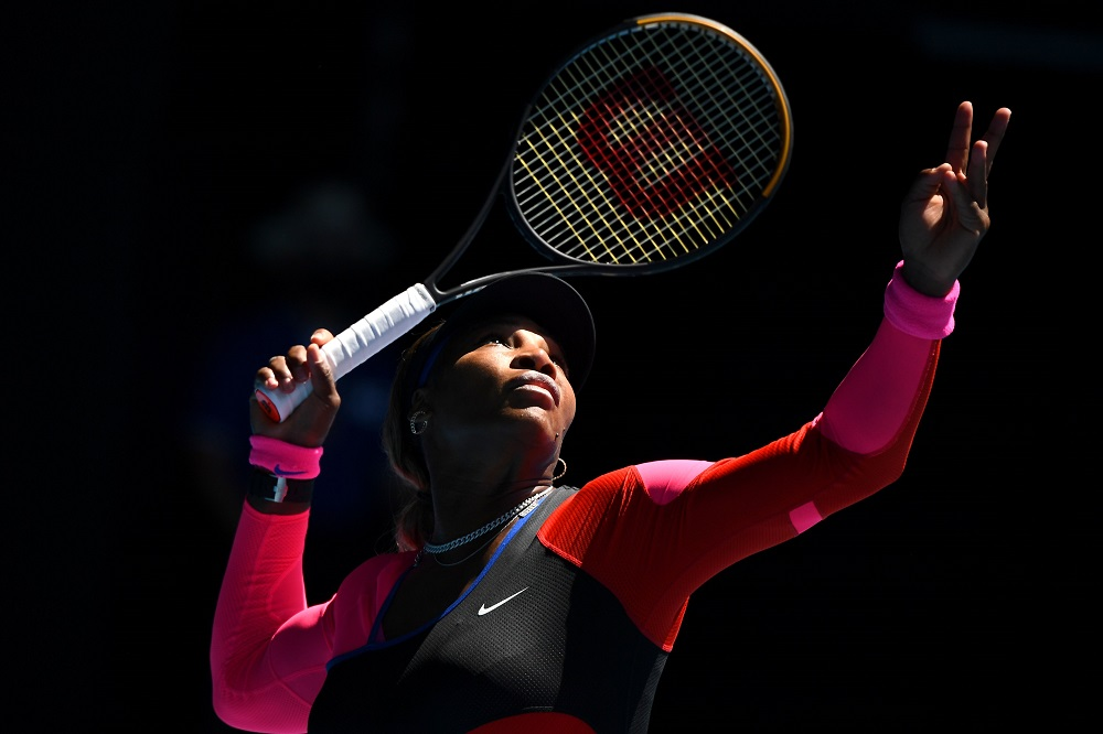 Serena Williams in the third round of the 2021 Australian Open, Melbourne