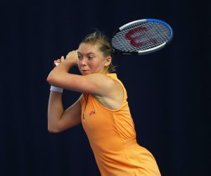 Alicia Barnett in the 2020 Battle of the Brits Premier League of Tennis. London UK