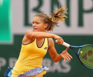 Matilda Mutavdzic in the first round of the Girls' Singles at the 2020 Roland Garros, France, UK