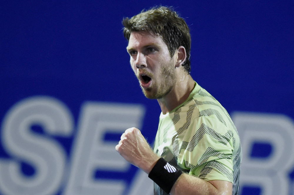 Cameron Norrie in the R16 at the 2021 ATP Acapulco, Mexico