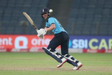 Sam Curran in the third ODI , India v England 2021, Pune