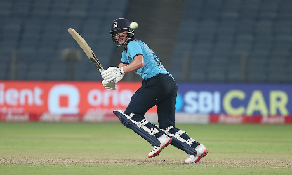 Sam Curran in the third ODI , India v England 2021, Pune