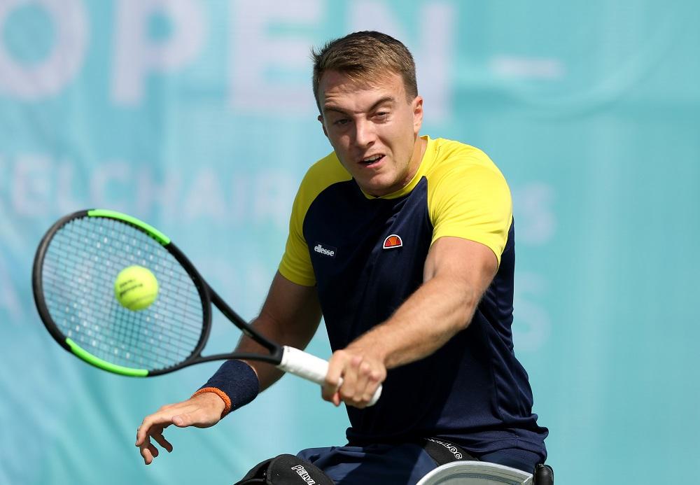 Dermot Bailey at the 2019 LTA British Open Wheelchair Tennis Championships