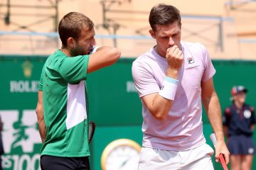 Dan Evans and Neal Skupski in the final of the 2021 ATP Monte Carlo Masters 1000, Monaco