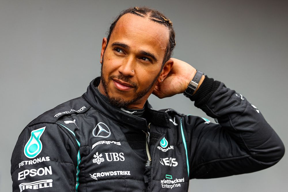 Lewis Hamilton after the qualifying session, Imola, Italy 2021