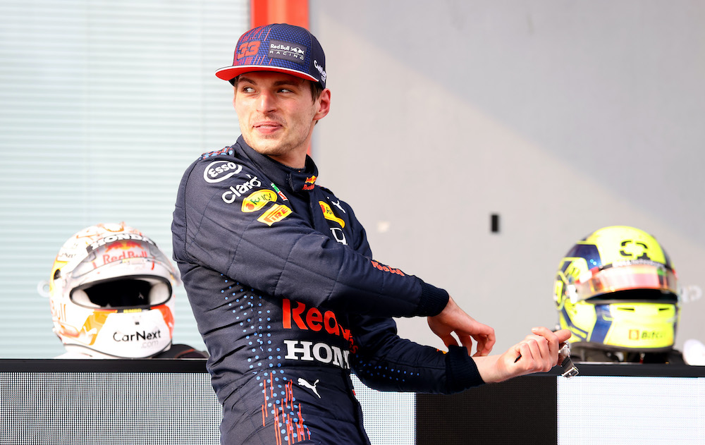 Max Verstappen after winning at Imola, Italy 2021
