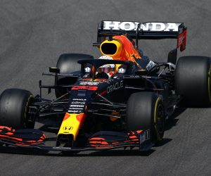 Max Verstappen driving for Red Bull in the 2021 Portuguese Grand Prix
