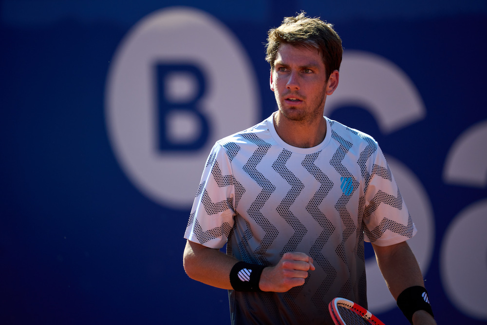 Cameron Norrie in the quarter-final of the 2021 Barcelona Open, Spain