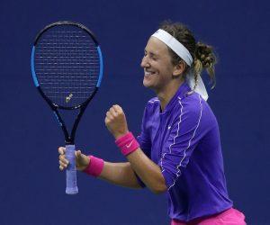 Victoria Azarenka in the 2020 US Open quarter-finals. New York