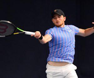Aidan McHugh in the 2021 Battle of the Brits Team Tennis
