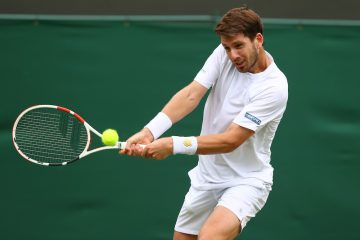 Cameron Norrie in the first round of Wimbledon 2021, London, UK