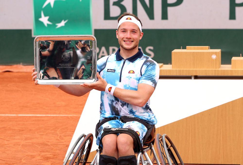 Alfie Hewett at 2021 Roland Garros