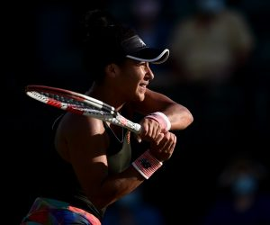 Heather Watson in the second round of the 2021 Viking Open, Nottingham, UK