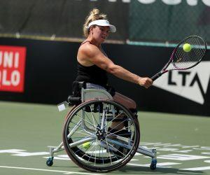 Jordanne Whiley at the 2019 LTA British Open Wheelchair Tennis Championships, Nottingham, UK