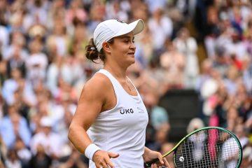 Ashleigh Barty in the final of Wimbledon 2021, London, UK