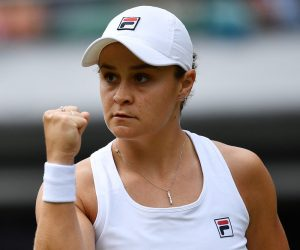 Ashleigh Barty in the fourth round of Wimbledon 2021, London, UK