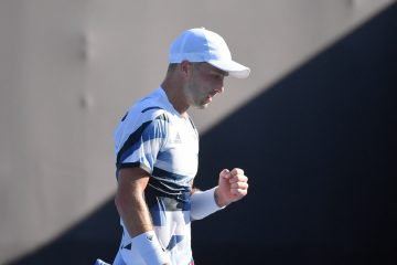 Liam Broady at the Tokyo 2020 Olympics. Japan