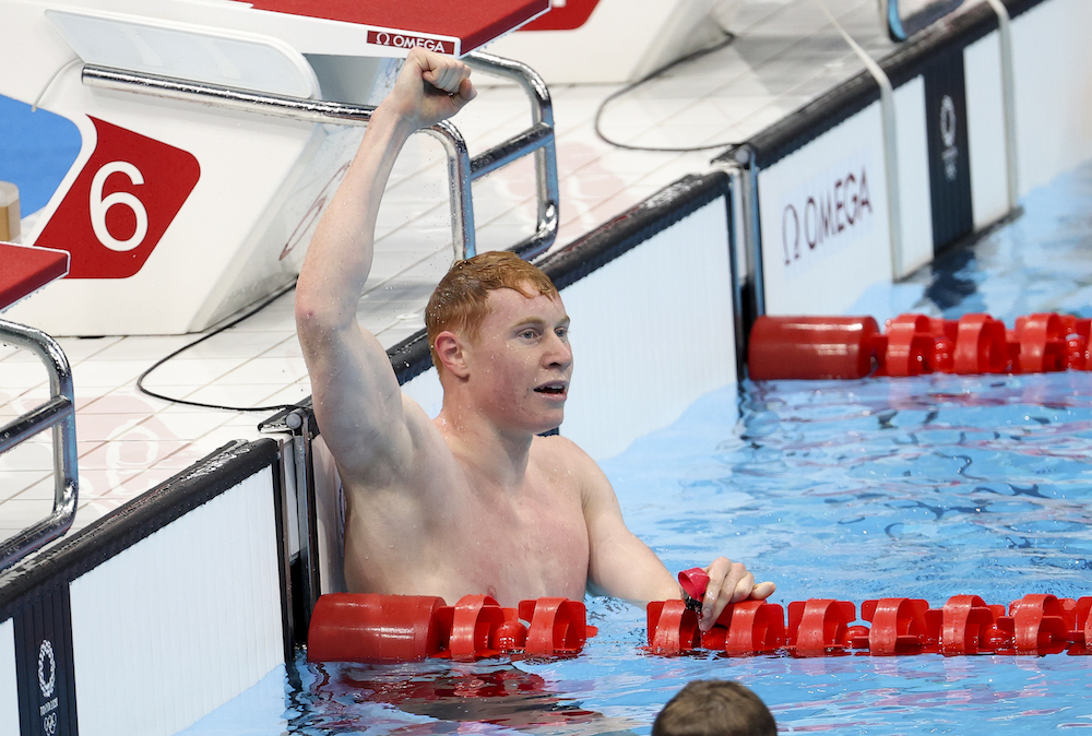 Tom Dean in the 200m freestyle, Tokyo 2020, Japan