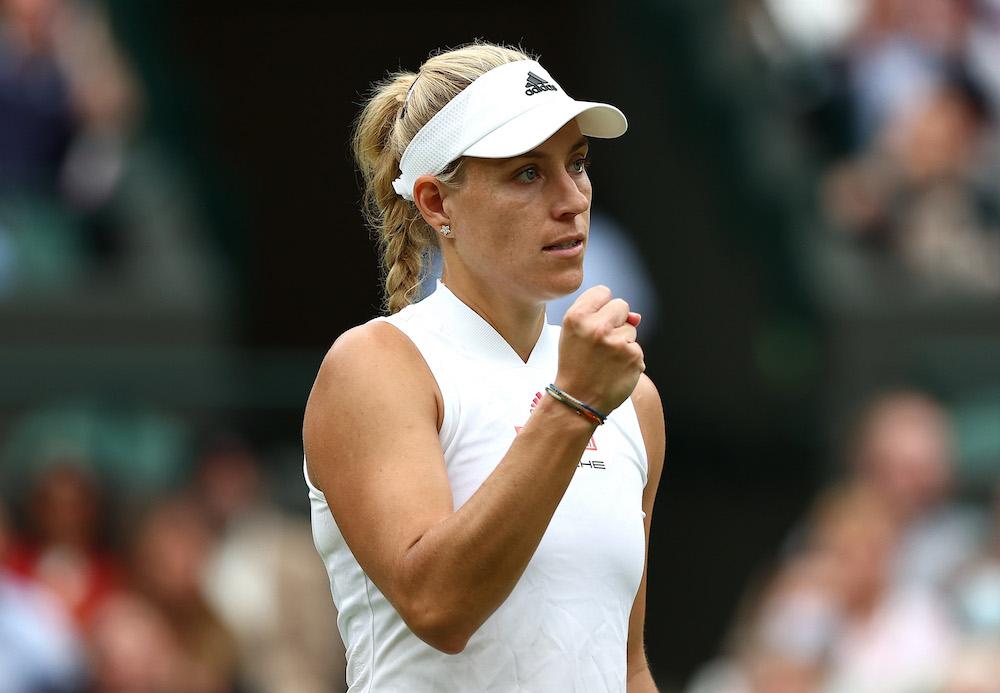 Angelique Kerber in the quarter-final of Wimbledon 2021