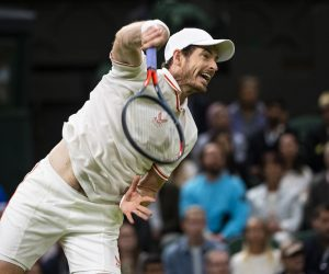 Andy Murray in the second round of Wimbledon 2021, UK