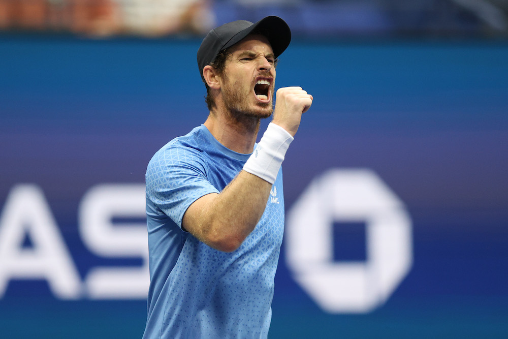 Andy Murray in the first round of the 2021 US Open, New York, USA