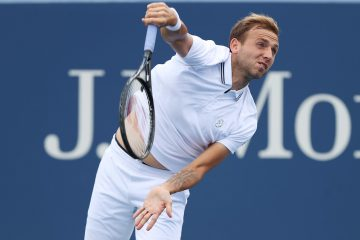 Dan Evans in the third round of the 2021 US Open in New York