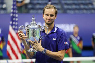 Daniil Medvedev after winning the 2021 US Open title