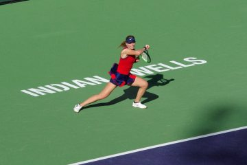 Paula Badosa in the final of the 2021 BNP Paribas Open, Indian Wells, USA