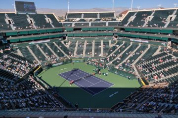 Stadium 1 during the 2021 BNP Paribas Open at Indian Wells, California, USA