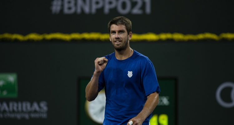 Cameron Norrie after winning the 2021 BNP Paribas Open, Indian Wells, USA