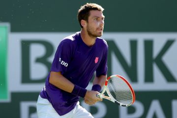 Cameron Norrie in the semi-final of the BNP Paribas Open at Indian Wells, California, USA